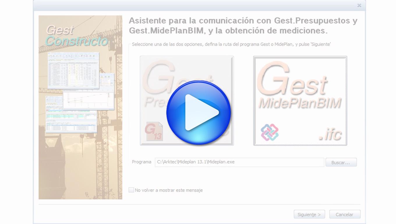 Gest.MidePLANBIM 13.1, Nueva comunicación directa de Gest y MidePlan con Allplan y Archicad
