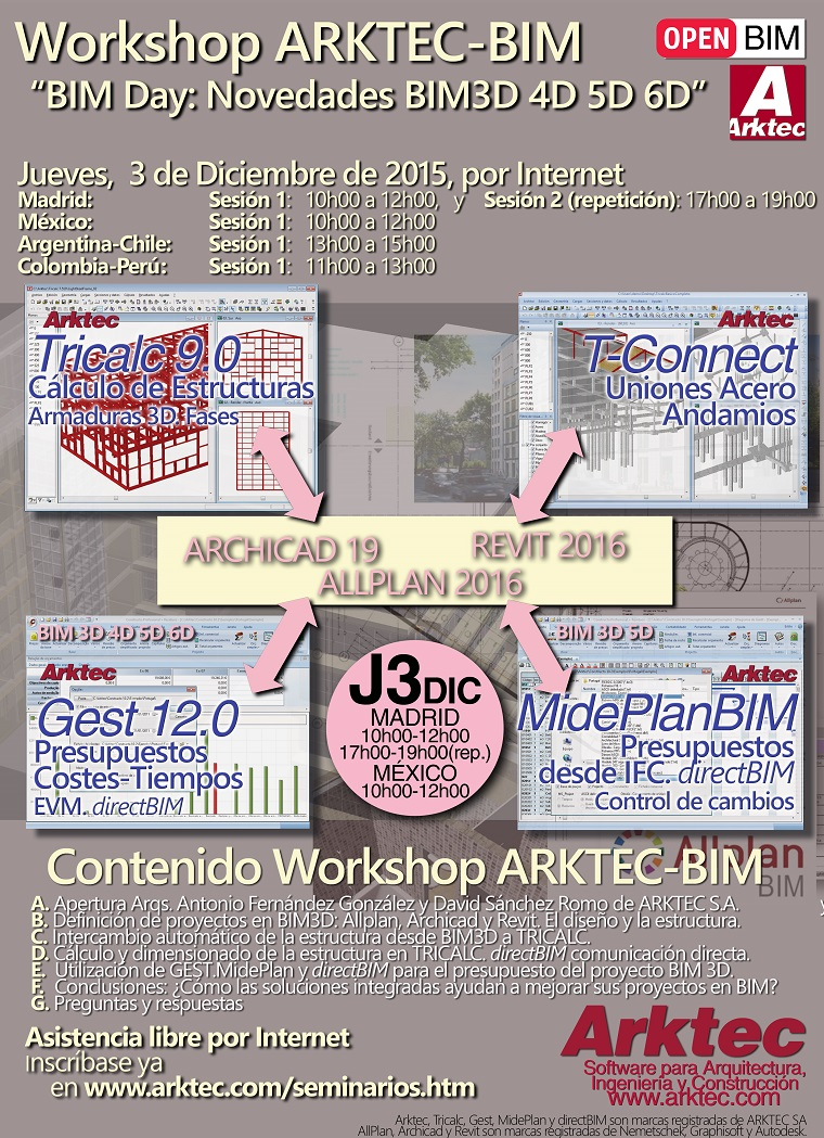 Workshop ARKTEC-BIM, BIM Day