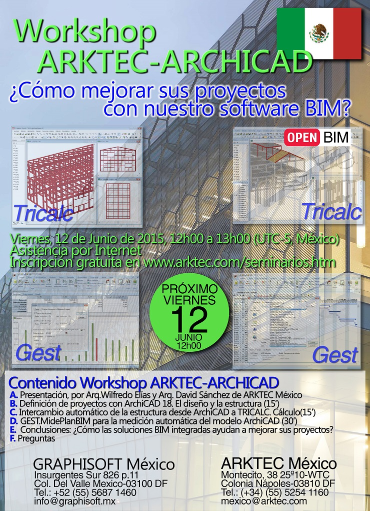 Workshop ARKTEC-ARCHICAD Graphisoft México