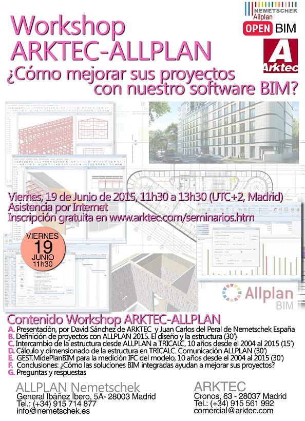 Workshop ARKTEC-ALLPLAN.Nemetschek España