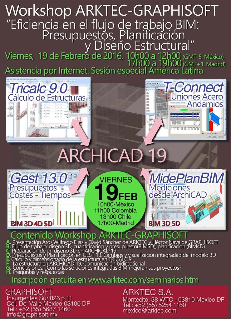 Workshop ARKTEC-GRAPHISOFT México