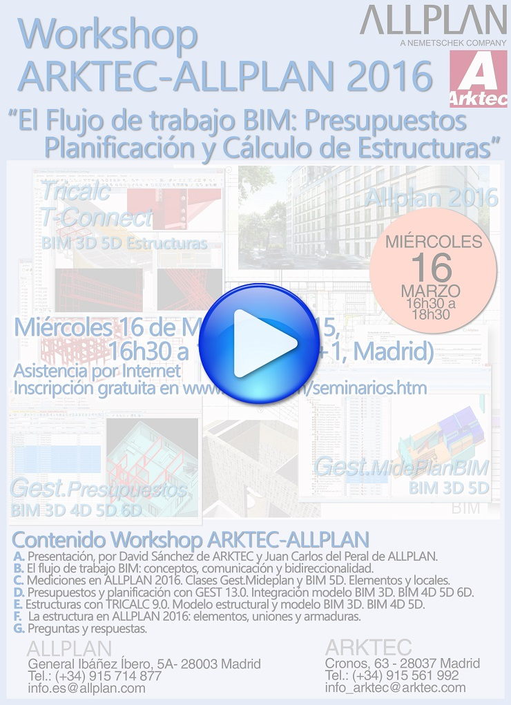 Workshop ARKTEC-ALLPLAN, el Flujo de trabajo BIM (16.03.2016)