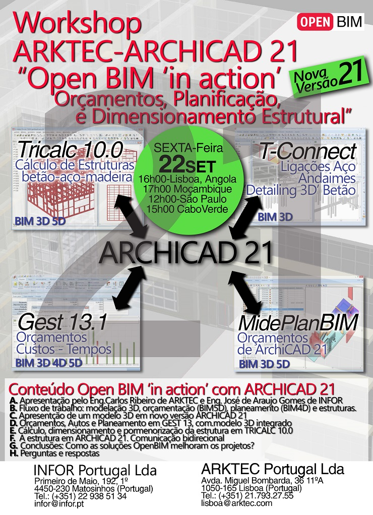 Workshop ARKTEC-ARCHICAD 21 Portugal-Brasil