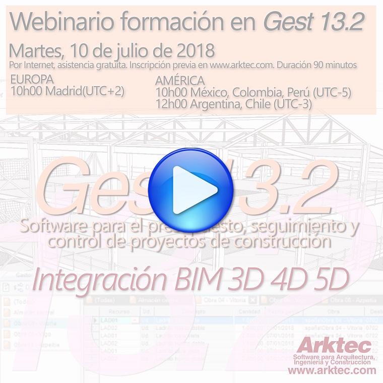 VIDEO de ARKTEC-GEST, Gest 13.2, software para el presupuesto, seguimiento y control de proyectos de construcción, en entorno OPEN BIM-IFC