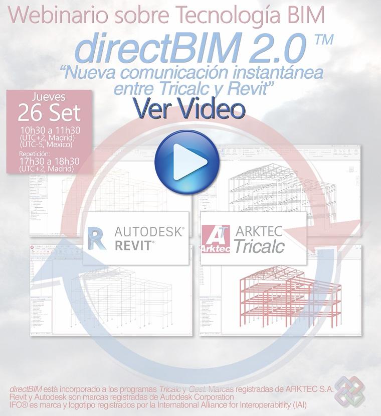 VIDEO de directBIM 2.0, Comunicacion instantánea entre Tricalc y Revit
