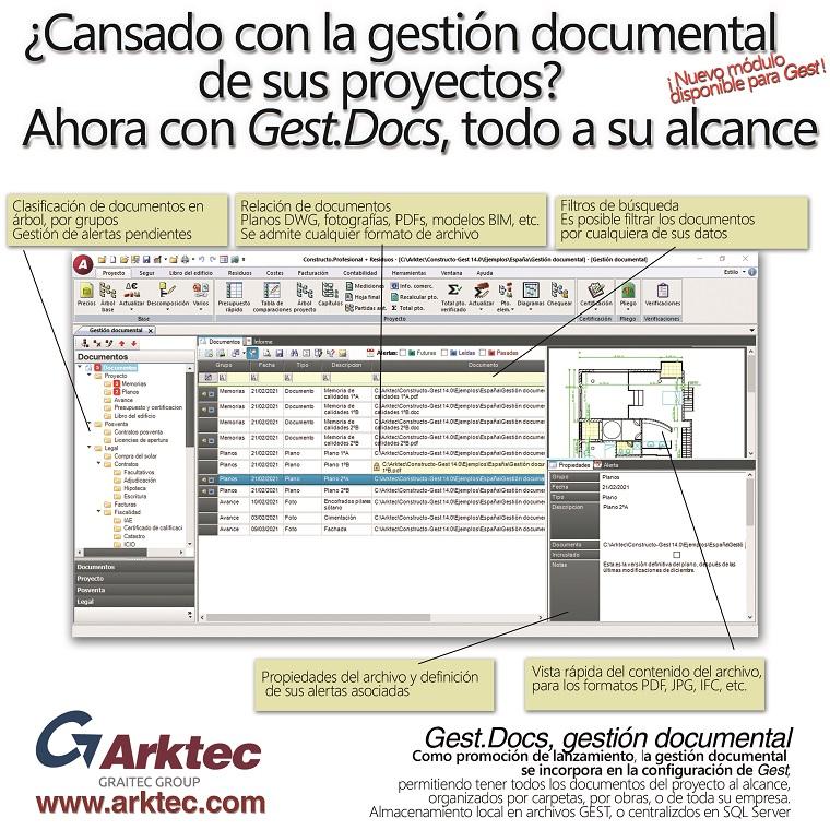 Gest.Docs, Gestión documental de proyectos de Arquitectura, ingeniería y construcción
