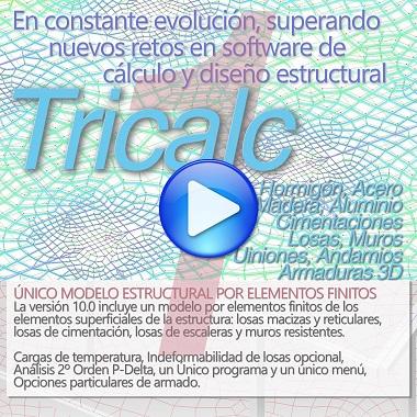 Tricalc 10.0, la nueva versión. Un único modelo por elementos finitos.