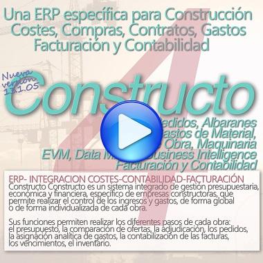 ARKTEC-ERP CONSTRUCTO Costes, Compras, Gastos, Facturación y Contabilidad para empresas constructoras
