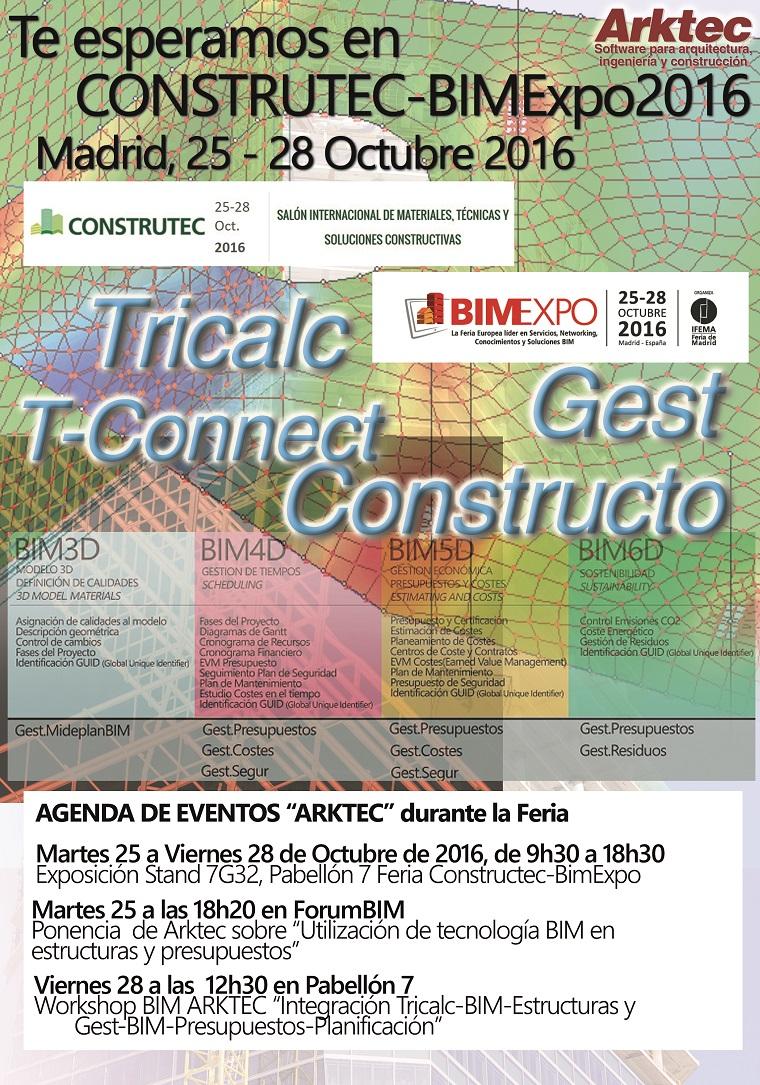 Arktec le invita a Construtec 2016 y a BimExpo 2016