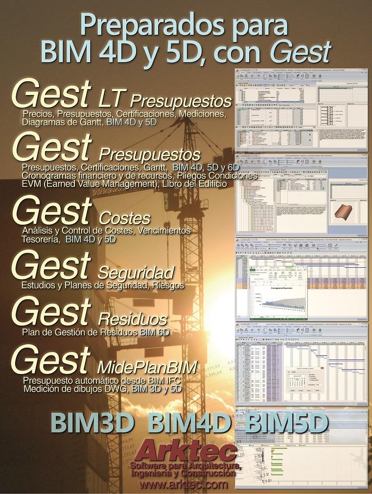 Preparados para el BIM 4D y 5D con Gest 12.0