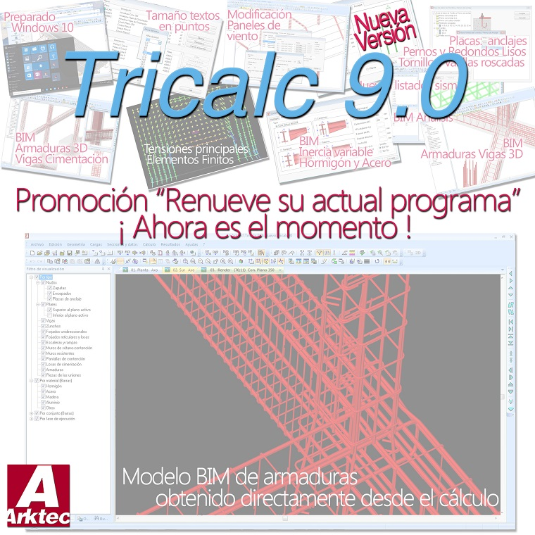 Nueva version Tricalc 9.0