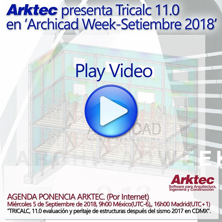 ARKTEC-TRICALC 11.0, evaluación y peritaje de estructuras después del sismo 2017 en Ciudad de México