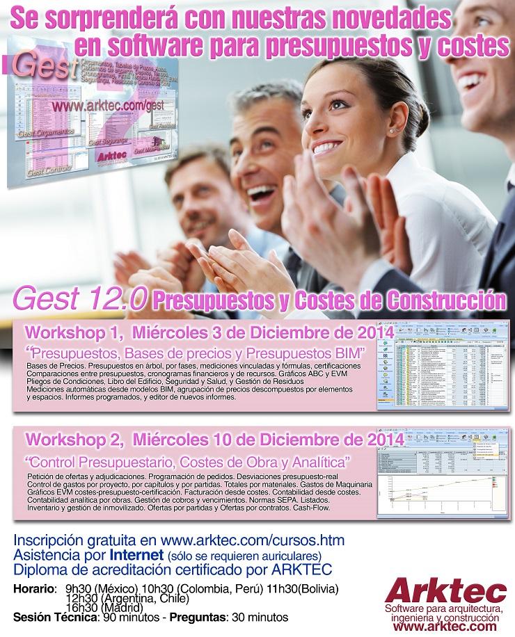 Workshops de Presupuestos y Control de Obras con GEST 12.0